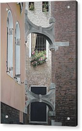 Acrylic Print featuring the pastel Venetian Buttresses - Pastel by Ben Kotyuk