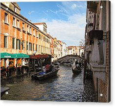 Acrylic Print featuring the photograph Venetian Canal by Joe Winkler