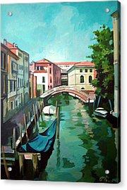 Venetian Channel 2 Acrylic Print by Filip Mihail