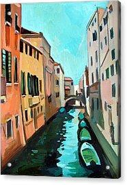 Venetian Channel Acrylic Print by Filip Mihail