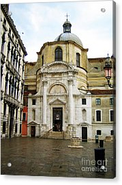 Venetian Church Acrylic Print by John Rizzuto