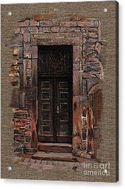 Acrylic Print featuring the painting Venetian Door 02 Elena Yakubovich by Elena Yakubovich