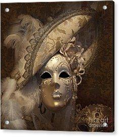 Venetian Face Mask F Acrylic Print