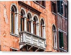 Venetian Houses In Italy Acrylic Print