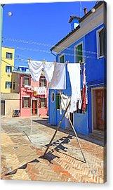 Venetian Life Acrylic Print by Ernst Cerjak