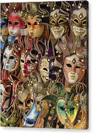Acrylic Print featuring the photograph Venetian Masks by Ramona Johnston