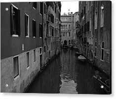 Acrylic Print featuring the photograph Venetian Monochrome Bw by Walter Fahmy
