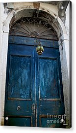 Venetian Old Blue Door Acrylic Print