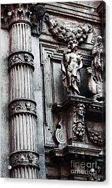 Venetian Statues Acrylic Print by John Rizzuto