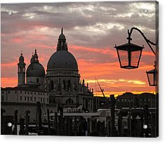 Acrylic Print featuring the photograph Venetian Sunset by Joe Winkler
