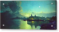 Venetian Twilight Acrylic Print by Paul Tagliamonte