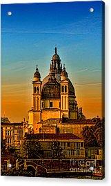 Venezia-basilica Of Santa Maria Della Salute Acrylic Print by Tom Prendergast