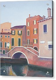 Venice Architecture Early Morning Acrylic Print by Jan Matson