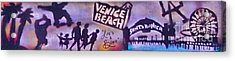 Venice Beach To Santa Monica Pier Acrylic Print by Tony B Conscious