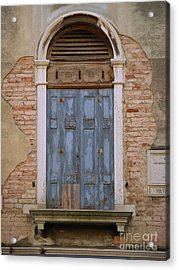 Venice Blue Arched Window Acrylic Print