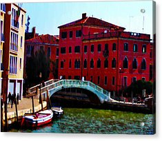 Venice Bow Bridge Acrylic Print by Bill Cannon
