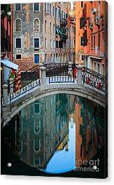 Venice Bridge Acrylic Print by Inge Johnsson
