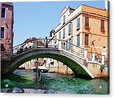 Venice Bridge Acrylic Print by Irina Sztukowski