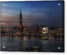 Acrylic Print featuring the photograph Venice By Night by Hanny Heim