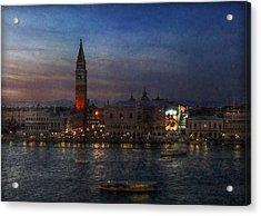 Venice By Night Acrylic Print by Hanny Heim