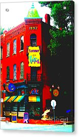 Venice Cafe' Painted And Edited Acrylic Print