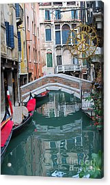 Venice Canal And Buildings Acrylic Print by Eva Kaufman