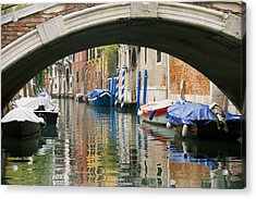Acrylic Print featuring the photograph Venice Canal Boat by Silvia Bruno