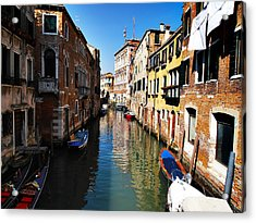 Venice Canal Acrylic Print by Bill Cannon