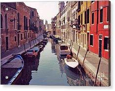 Venice Canal Acrylic Print by Rita Brown