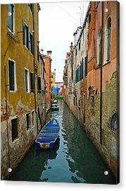 Acrylic Print featuring the photograph Venice Canal by Silvia Bruno