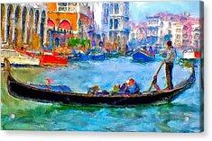 Venice Canals Gondola Acrylic Print by Yury Malkov
