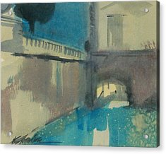 Acrylic Print featuring the painting Venice  by Ed  Heaton