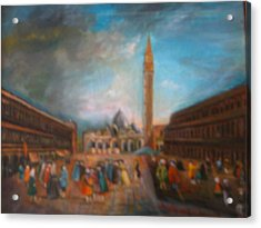 Acrylic Print featuring the painting Venice by Egidio Graziani