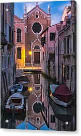 Venice Evening Acrylic Print by Joan Herwig
