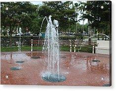 Venice Florida Fountain Acrylic Print