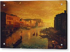 Venice From The Rialto Bridge Acrylic Print by Blue Sky