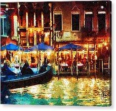 Venice Glow Acrylic Print by Mo T