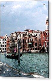 Venice Gondola Acrylic Print by Sandy MacNeil
