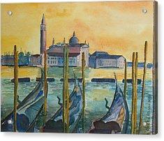 Venice Gondolas Acrylic Print