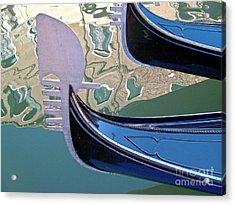 Venice Gondolas Acrylic Print by Heiko Koehrer-Wagner