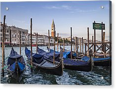 Venice Grand Canal And Goldolas Acrylic Print