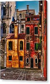 Venice Homes Acrylic Print by Jerry Fornarotto