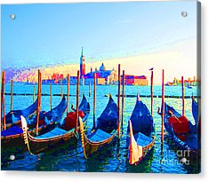 Venice Hues Acrylic Print by Marguerita Tan