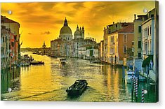 Golden Venice 3 Hdr - Italy Acrylic Print