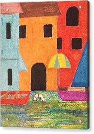 Venice In Pastel Acrylic Print