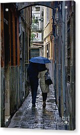 Venice In The Rain Acrylic Print