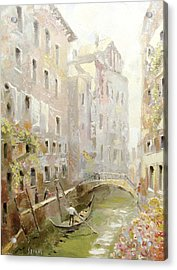 Acrylic Print featuring the painting Venice In The Sunlight by Dmitry Spiros