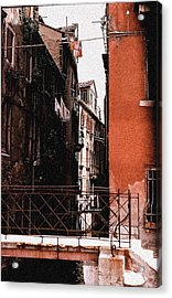 Acrylic Print featuring the photograph A Chapter In Venice by Ira Shander
