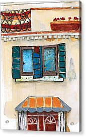 Venice Italy Building Acrylic Print by Robin Luther