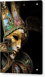 Venice Italy - Carnival Mask Acrylic Print